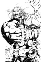 Joe Mad Thor inks by benjonesart