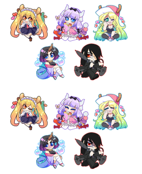 Miss Kobayashi's Dragon Maid Charms by QueenAshi