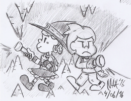 SKETCH - Spelunkers by megawackymax