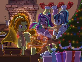 [Commission]Christmas with the sirens. by tikrs007