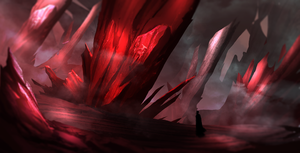 Blood stone forest by legendary-memory