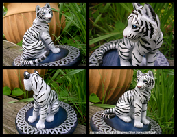 Celtic Wedding Topper White Tiger by WildSpiritWolf