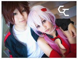 Guilty Crown - Shu and Inori by AmyDakota