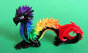 Rainbow Oriental Dragon - Auction by DragonsAndBeasties