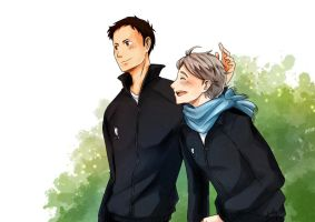 Haikyuu!! Daichi/Suga by arisupaints
