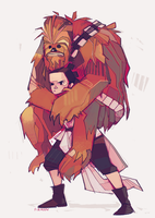 Rey-a-Day 101 piggybacca by michaelfirman