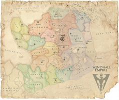 Map of WindHall draft by Hellstern