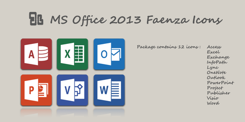 MS Office 2013 Faenza Icons by wheell33