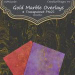 Transparent Gold Marble Overlays by CntryGurl-Designs