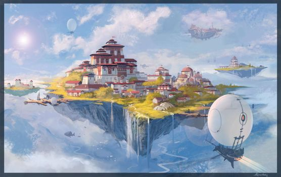 flying castle by armandeo64