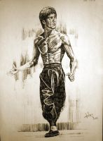Bruce Lee by aaronwty