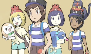 Pokemon Sun and Moon Trainers by RamyunKing