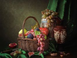 Still life with autumn fruits by Daykiney