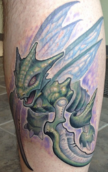 Scyther Pokemon Tattoo by Nelby2388