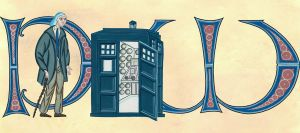 Illuminated parchment TARDIS by Umanimo