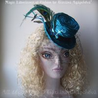 Hand Sculptured Satin Top Hat by TianaChe