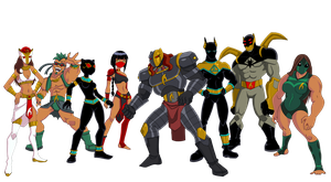 Egyptian Supervillains: Setekh Syndicate by Glee-chan