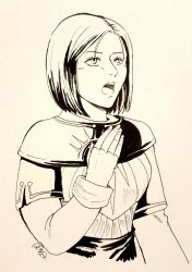 Inktober Day 14 :Leliana(Dragon Age Origins) by athena-i