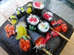 Sushi Cake by cootiedoon