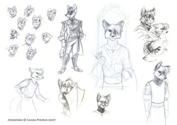 Armarniss Sketches 3 by Leopreston