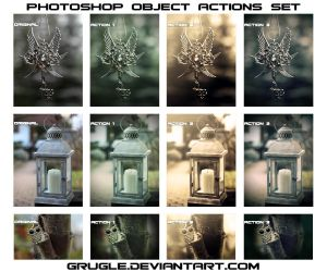 Photoshop Object Actions Set by Grugle