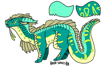 green seawing adopt by DragonsOMG