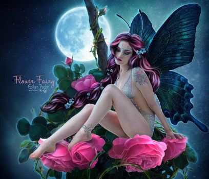 Flower Fairy by EstherPuche-Art