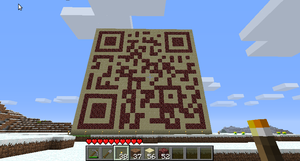 Minecraft QR wall by Mergorti
