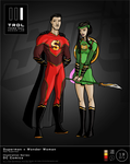TRDL 2016 Series 19 New Superman and Wonder Woman by TRDLcomics