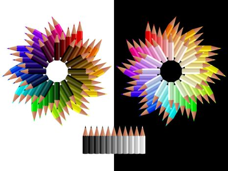 Pencil Colour Wheels by he4rty