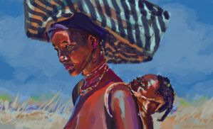 angola mother and child by nosoart