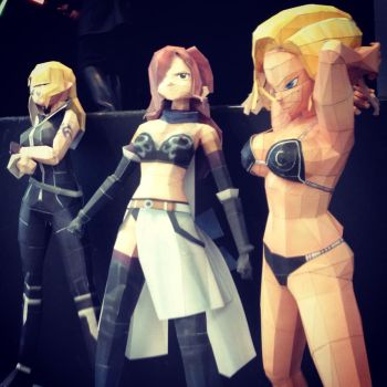 Girls papercraft lucy erza c18 by enigmael