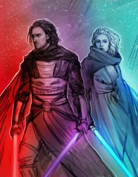 Revan and Meetra by DancinFox