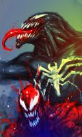 VENOM VS. CARNAGE by marcnail