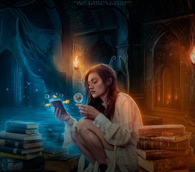 Girl-who-loved-fairy-tales by AdlerAnna