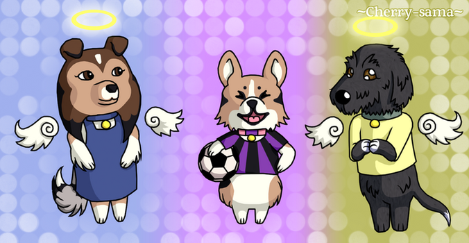My Doggies In Animal Crossing Style by Cherry-sama