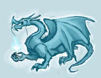 Blue Dragon Sketch by jaz-lyn