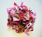 Pink brooch by RibbonsandClay