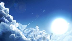Dash Above Cloudsdale 1920x1080 by BronyNeighToZ