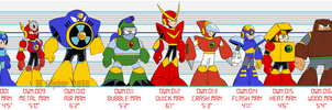 Mega Man 2 size chart by MSipher