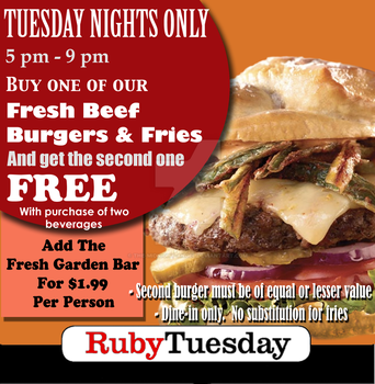 Ruby Tuesday Burger Ad by The-Midnight-Angel
