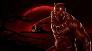 Black Panther Red Planet by Curtdawg53