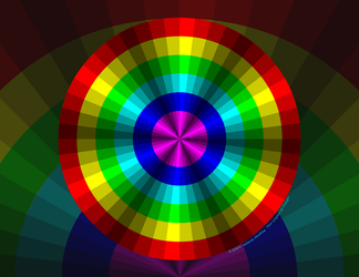 Optical Illusion Rainbow by vhartley