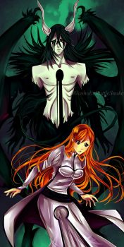 Ulquiorra and Orihime by Ysenna