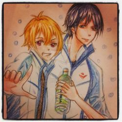 Fanart Nagisa and Haru by kiefers24
