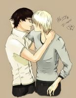 drarry kiss colored by chouette-e