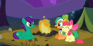 The Apple Family  and Twinkle-Camp in the Everfree by EmoshyVinyl