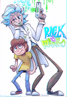 Rick and Morty 100 years by schwubadub