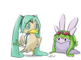 Farfetch'd Miku and Goomy Gumi