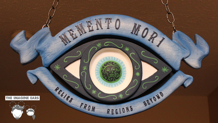 Haunted Mansion Memento Mori Sign by TheImagineEars